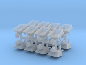 Wheelbarrow (x16) 1/144 in Smooth Fine Detail Plastic