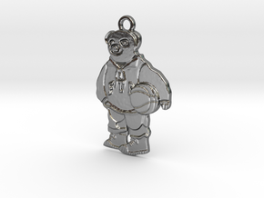 FTP Bear Pendant Fck The Population Silver in Polished Silver