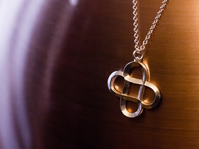 Infinity Hearts - Pendant in Fine Detail Polished Silver