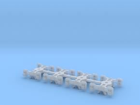 T95s x4 N scale short Fox trucks, screw mount in Smoothest Fine Detail Plastic