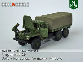 Ural-4320 Wartung (N 1:160) in Smooth Fine Detail Plastic
