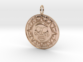 Pirate Coin in 14k Rose Gold Plated Brass: Medium