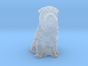 O Scale Shar Pei in Smooth Fine Detail Plastic