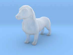S Scale Dachshund in Smooth Fine Detail Plastic