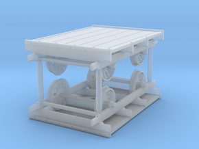 Sn3 Scale Sheffield No 32 Narrow Gauge Pushcar (2) in Smooth Fine Detail Plastic