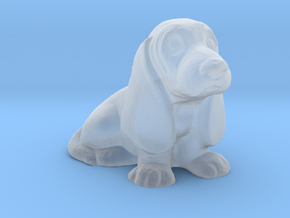 O Scale Basset Hound in Smooth Fine Detail Plastic