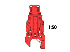 1:50 - Steel Shear for 25-35t excavators in Smooth Fine Detail Plastic