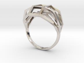 iXi Basic Geometry Ring Size 4.75 in Platinum
