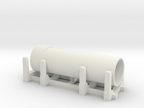 Pipe Transport 1/76 in White Natural Versatile Plastic