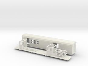 Sandy River #6 RPO/Baggage car HOn2 with trucks  in White Natural Versatile Plastic