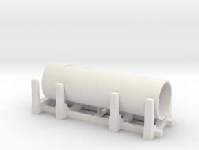 Pipe Transport 1/64 in White Natural Versatile Plastic
