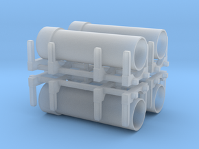 Pipe Transport (x4) 1/285 in Smooth Fine Detail Plastic