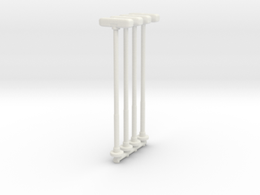Double Street Lamp (x4) 1/100 in White Natural Versatile Plastic