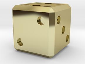 1 oz. Gold Die in 18k Gold Plated Brass