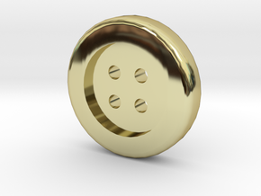 1/6 oz. Gold Button in 18k Gold Plated Brass