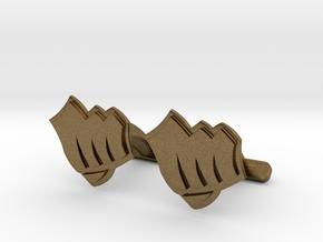 Riot Fist Cufflinks in Natural Bronze