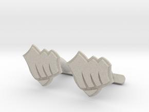 Riot Fist Cufflinks in Natural Sandstone