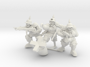 Sturmsoldaten Troop in White Natural Versatile Plastic