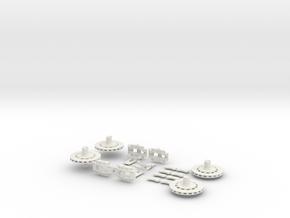 1/12 Centerlock Brakes in White Natural Versatile Plastic