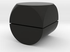 Rocking Ring Box in Black Natural Versatile Plastic