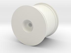 Losi Mini-T 2.0 Wheel in White Natural Versatile Plastic