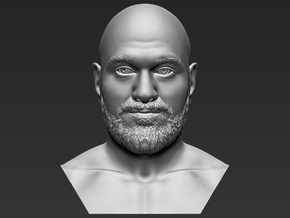 Tyson Fury bust in White Natural Versatile Plastic