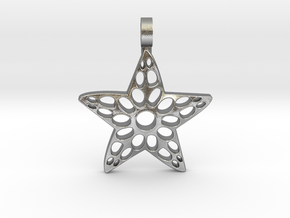 Sea Star Pendant in Natural Silver