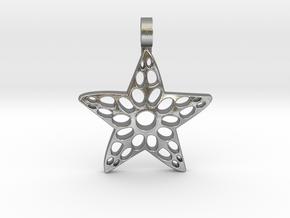 Sea Star Pendant in Natural Silver