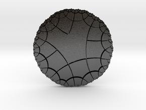 Pentagonal Tiling on the Hyperbolic Plane in Matte Black Steel