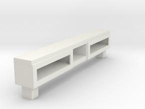 Modern Miniature 1:12 Sideboard in White Natural Versatile Plastic: 1:12