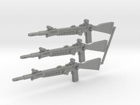 GI Joe Classified 1:12 Scale  Laser Rifle (3-pack) in Gray PA12