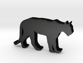 Mountain Lion Game Piece | Plethora Game in Matte Black Steel