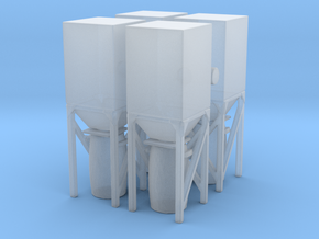 Dust Collector Bin (x4) 1/160 in Smooth Fine Detail Plastic
