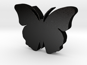 Butterfly Game Piece in Matte Black Steel