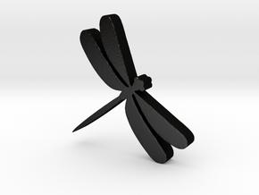 Dragonfly Game Piece in Matte Black Steel