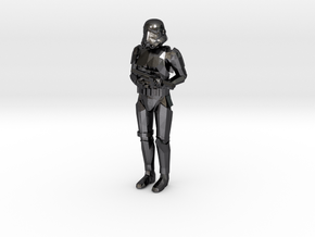 Stormtrooper in position of Attention in Polished and Bronzed Black Steel: 1:43