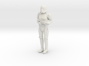 Stormtrooper in position of Attention in White Natural Versatile Plastic: 1:48