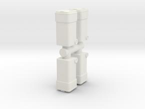 Waste Container Bin (x4) 1/56 in White Natural Versatile Plastic