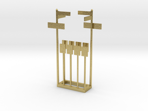 NYC Street and Bus Stop Signs in Natural Brass: 1:87 - HO