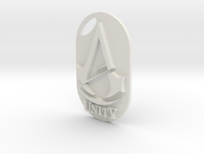 Assassins creed - Unity Logo/Keychain in White Strong & Flexible
