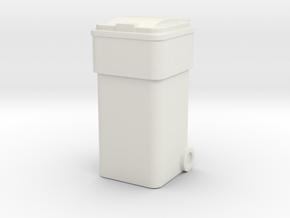 Waste Container Bin 1/24 in White Natural Versatile Plastic