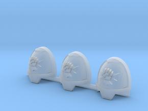 Fist on Thunderbolt Gravus shoulder pads x3 L #2 in Smooth Fine Detail Plastic