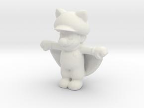 Mario_Squirrel in White Natural Versatile Plastic: Small
