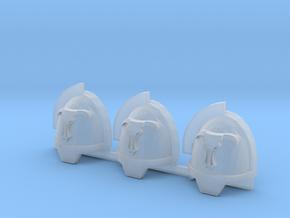Minotaurs Gravus shoulder pads x3 L #3 in Smooth Fine Detail Plastic