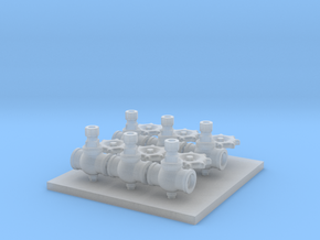 3 Inch Valves F Scale in Smooth Fine Detail Plastic