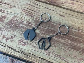 Catch Co Outline Keychain in Matte Black Steel
