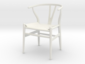 Wishbone Chair in 1:12 and 1:24 in White Natural Versatile Plastic: 1:12