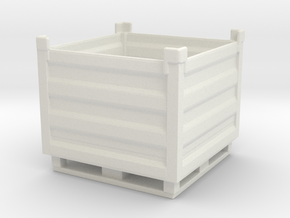 Palletbox Container 1/48 in White Natural Versatile Plastic
