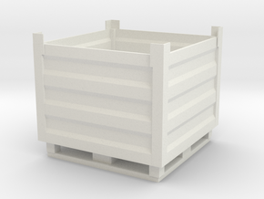 Palletbox Container 1/12 in White Natural Versatile Plastic