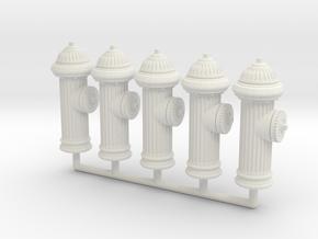 Fire Hydrant 01. 1:24 Scale in White Natural Versatile Plastic